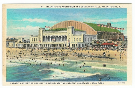 ATLANTIC CITY AUDITORIUM AND CONVENTION HALL, ATLANTIC CITY, N.. J -- Obverse