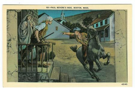 Paul Revere's Ride, Boston, Mass. - obverse