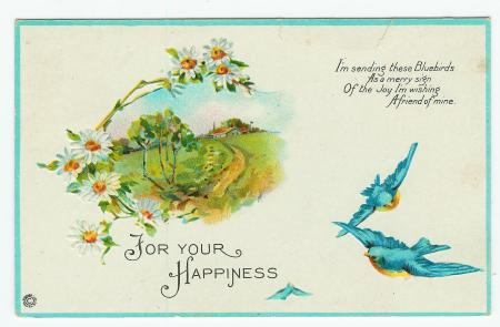 For your Happiness - Stecher Series 683 D - obverse